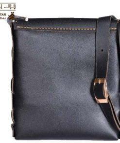 کیف پست چی شانه ای چرم طبیعی دست دوز