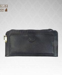 کیف پول چرم دست دوز زیپ دار کد C-271