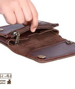 کیف موبایل چرم دست دوز کد c264