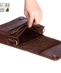 کیف شانه ای چرم دست دوز کد c268