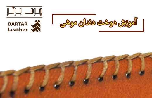 آموزش دوخت دندان موشی چرم دست دوز طبیعی توسط استاد مرجان محمدی