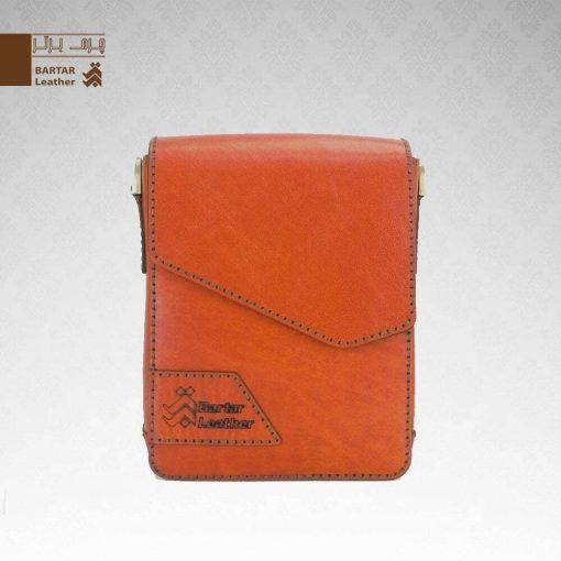 کیف حمایلی چرم طبیعی دست دوز کد C-301
