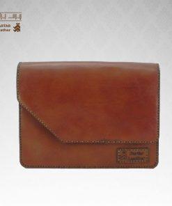 کیف حمایلی چرم طبیعی دست دوز کد C-256