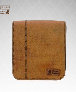 کیف حمایلی چرم طبیعی دست دوز کد C-321
