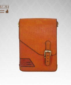 کیف حمایلی چرم طبیعی دست دوز کد C-255