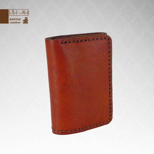 کیف پول 3 لت چرم طبیعی دست دوز کد C-280